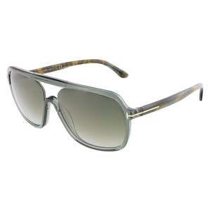 Tom Ford Tom Ford Dark Shiny Green Crystal Square Sunglasses