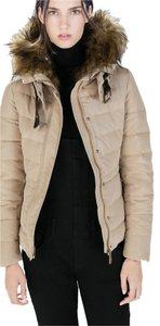 Zara 2015 Nwt New Beige Coat