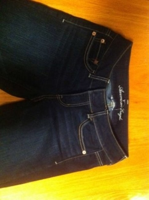 American Eagle Outfitters Super Stretch 4 Long Women's Size 4 50% Off Retail Never Worn Flare Leg Jeans-Dark Rinse