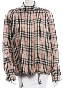 Burberry Nova Check Plaid Longsleeve Beige, Black, Red Jacket