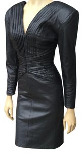 Black leather dress Dress