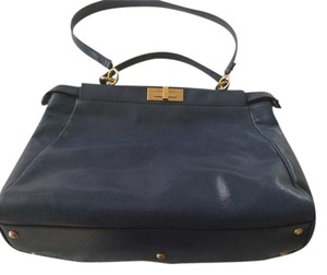 Fendi Leather Tote in Blue