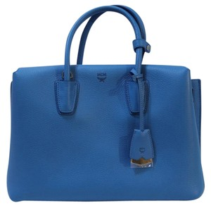 MCM Crossbody Nwt Leather Tote in Tile Blue