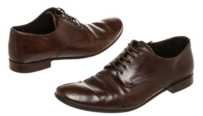 Item - Brown Leather Lace Up Men's 7.5) Formal Shoes Size US 7.5 Regular (M, B)