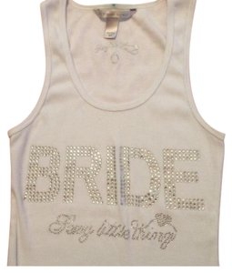 Victoria's Secret Top White, Crystal Rhinestones