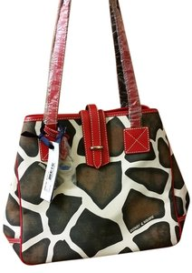 Dooney & Bourke Oversized Canvas Tote in Multi-color Animal Print
