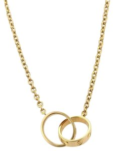 Cartier Cartier Baby Love Infinity Double Mini Ring Pendant Necklace In 18k Yellow Gold