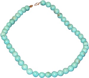 Murano blue venetian glass bead necklace