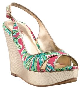 Lilly Pulitzer Orchid Pink Wedges