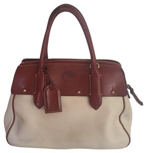 Dooney & Bourke Satchel in Cream And Brown
