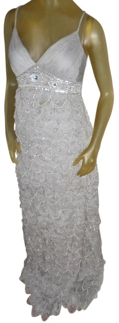 Item - Grey Beaded Ball Wedding Prom Gown Formal Dress Size 4 (S)