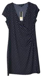 Jones New York Polka Dot Navy Dress