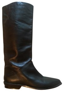 Dolcis Leather Riding Pull On Black Boots