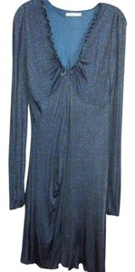Dark blue black Maxi Dress by Andrea Rosati