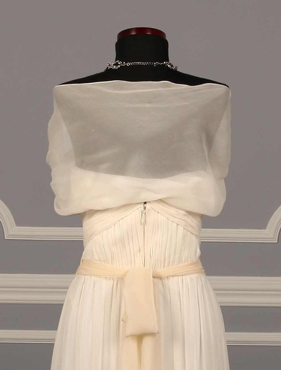Monique Lhuillier Honey (Similar To Ivory) Prima Embellished Sash