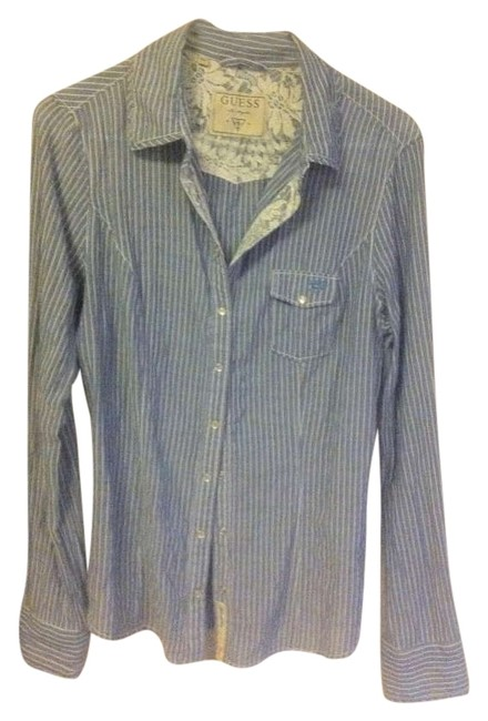 Preload https://img-static.tradesy.com/item/196113/guess-light-bluewhitelace-bluewhite-pinstripelace-lightweight-button-down-top-size-12-l-0-0-650-650.jpg