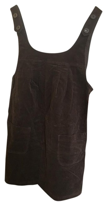 Joie Brown Overall Mini Short Casual Dress Size 4 (S) Joie Brown Overall Mini Short Casual Dress Size 4 (S) Image 1