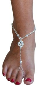 Mariell Barefoot Bridal Sandal Foot Jewelry 4462FT-W-CR-S