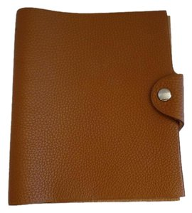 Hermès HERMES Ulysse PM Notebook Cover in Brown Togo Leather