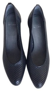 Stuart Weitzman Perforated Patent Leather Black Pumps