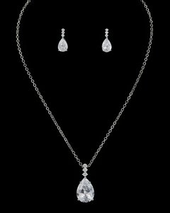 Aaa Cz Necklace And Earring Set