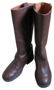 J.Crew Extended Calf Riding Dark Brown Boots