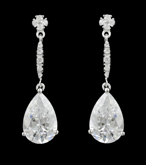 Cz Aaa Cz/Rhodium Earrings