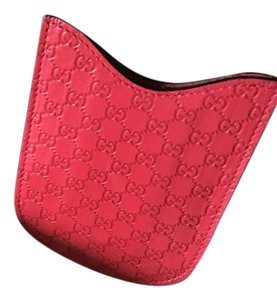 Gucci brand new phone case red leather Gucci 238687 Bmjon 6412