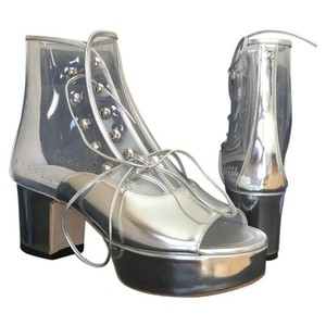 Chanel Silver Boots