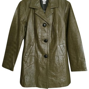 Chico's Olive Green Leather Jacket