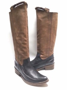 Free People Striking Two-tone Leather TAN/BLACK Boots