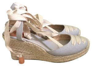J.Crew Light blue-gray & tan Wedges