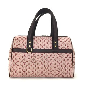 Louis Vuitton Ba Satchel in Brown & Red