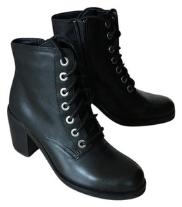 ALDO Leather Classic Edgy Black Boots