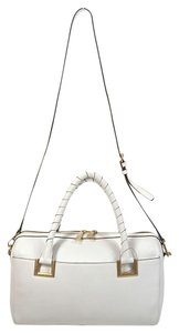 DKNY Crosby Leather Satchel in White