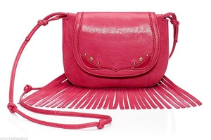 Juicy Couture Fringe Heritage Frozen Berry Leather Yhru4030 Cross Body Bag