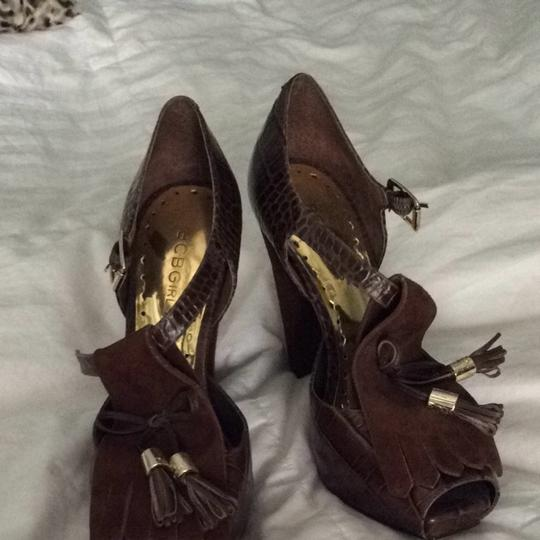 BCBG Chocolate Brown Pumps