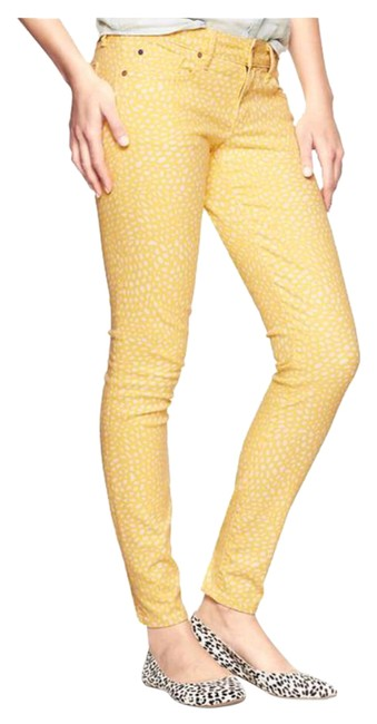 Item - Yellow Always Dotted Print Skinny Jeans Size 27 (4, S)