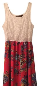 Coral, White, Floral, Lace Maxi Dress by Other Maxi Festival