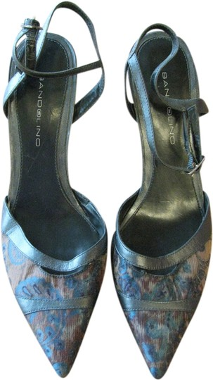 Bandolino Blue/Rust/Brown Print Formal