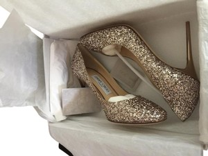 Jimmy Choo Esme Gold-Tone Pumps