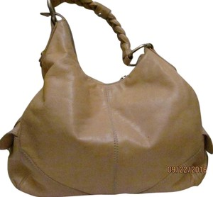 Francesco Biasia Leather Silver Hardware Leather Camel Leather Shoulder Bag