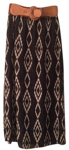 Rue 21 Maxi Skirt Black, White, Brown