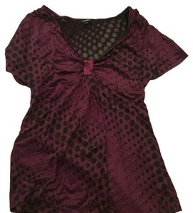 Express Top Black purple