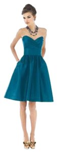 Alfred Sung Strapless Knee Length Dress