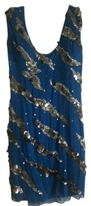 Aidan Mattox Silk Sequins Formal Evening Dress