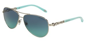 Tiffany & Co. Tiffany & Co 3049-B Aviator Sunglasses 3049B Silver 60019S Authentic
