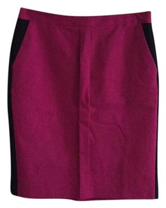 Worthington Skirt Fuschia and black