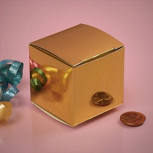 Gold Favor Boxes