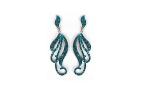 Mariell Pave Curling Vines Statement Earring